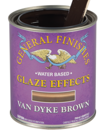 General Finishes Glaze Effects, Quart, Van Dyke Brown