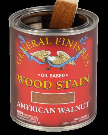 General Finishes Liquid Oil Wood Stain, Quart, American Walnut