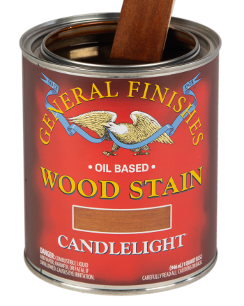 General Finishes Liquid Oil Wood Stain, Quart, Candlelight