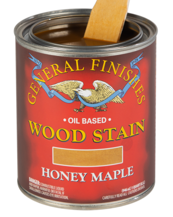 General Finishes Liquid Oil Wood Stain, Quart, Honey Maple