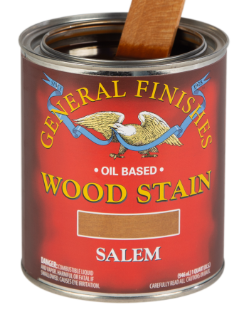 General Finishes Liquid Oil Wood Stain, Quart, Salem