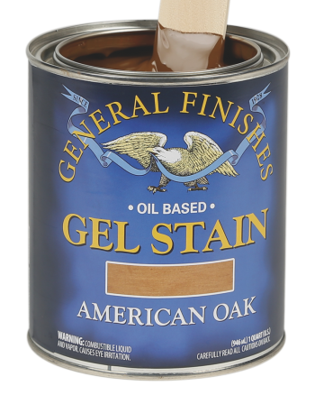 General Finishes Oil Based Gel Stain, Quart, American Oak