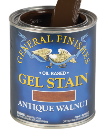 General Finishes Oil Based Gel Stain, Quart, Antique Walnut