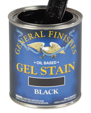 General Finishes Oil Based Wood Stain, Quart, Black