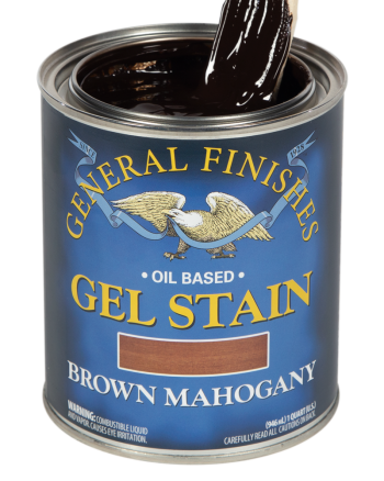 General Finishes Oil Based Gel Stain, Quart, Brown Mahogany