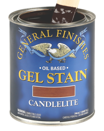General Finishes Oil Based Gel Stain, Quart, Candlelite