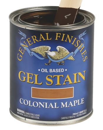 General Finishes Oil Based Wood Stain, Quart, Colonial Maple