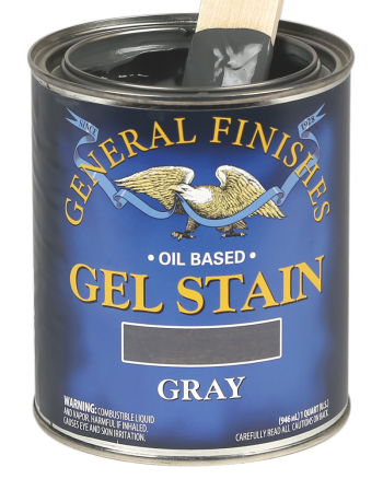 General Finishes Oil Based Wood Stain, Quart, Gray