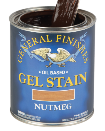 General Finishes Oil Based Gel Stain, Quart, Nutmeg