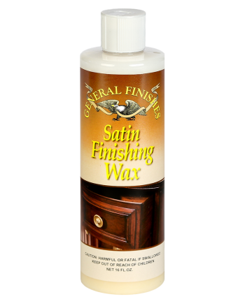General Finishes Satin Finishing Wax, 16oz Bottle