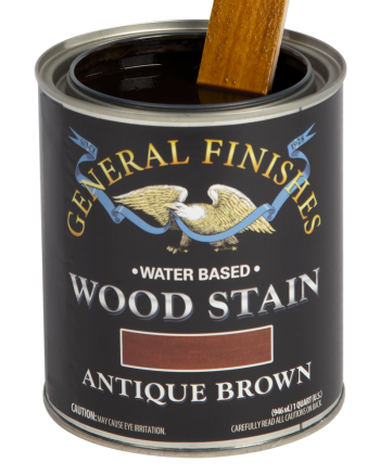 General Finishes Water Based Wood Stain, Quart, Antique Brown