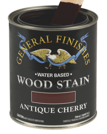 General Finishes Water Based Wood Stain, Quart, Antique Cherry