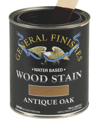 General Finishes Water Based Wood Stain, Quart, Antique Oak