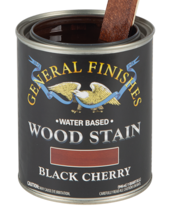 General Finishes Water Based Wood Stain, Quart, Black Cherry