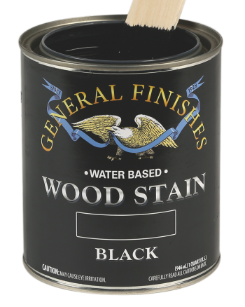 General Finishes Water Based Wood Stain, Quart, Black