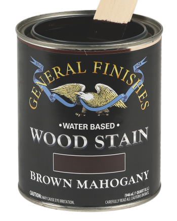 General Finishes Water Based Wood Stain, Quart, Brown Mahogany
