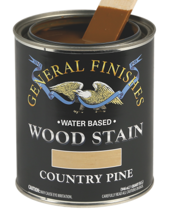 General Finishes Water Based Wood Stain, Quart, Country Pine