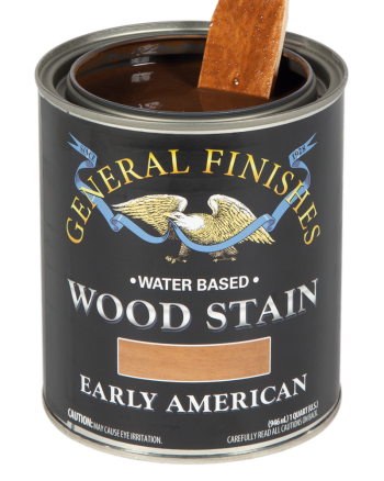 General Finishes Water Based Wood Stain, Quart, Early American