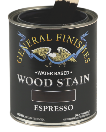 General Finishes Water Based Wood Stain, Quart, Espresso