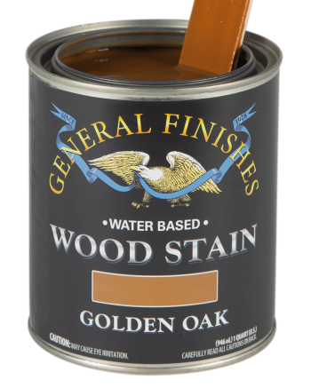 General Finishes Water Based Wood Stain, Quart, Golden Oak