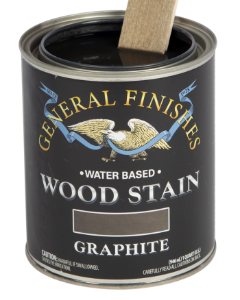 General Finishes Water Based Wood Stain, Quart, Graphite