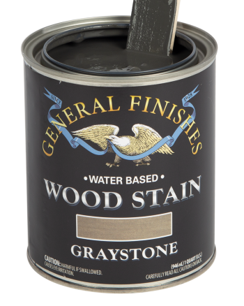 General Finishes Water Based Wood Stain, Quart, Graystone