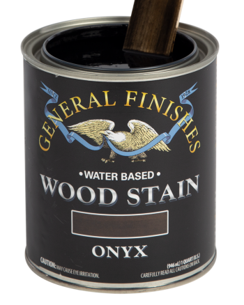 General Finishes Water Based Wood Stain, Quart, Onyx