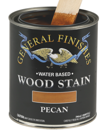 General Finishes Water Based Wood Stain, Quart, Pecan