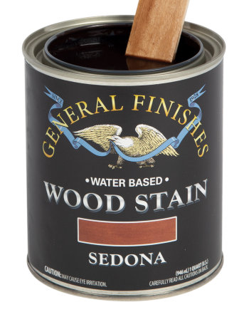 General Finishes Water Based Wood Stain, Quart, Sedona