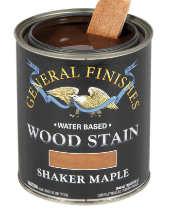 General Finishes Water Based Wood Stain, Quart, Shaker Maple