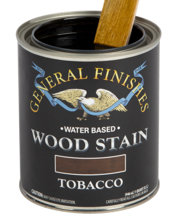 General Finishes Water Based Wood Stain, Quart, Tobacco