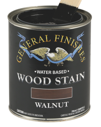 General Finishes Water Based Wood Stain, Quart, Walnut