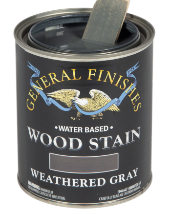 General Finishes Water Based Wood Stain, Quart, Weathered Gray