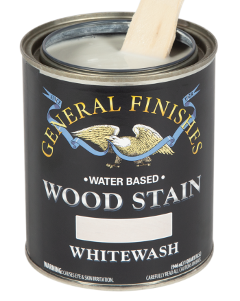 General Finishes Water Based Wood Stain, Quart, Whitewash