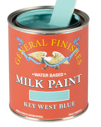General Finishes Milk Paint, Quart, Key West Blue