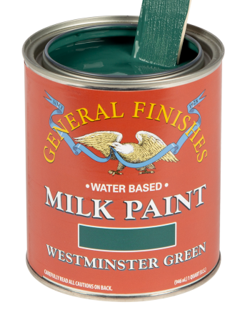 General Finishes Milk Paint, Quart, Westminster Green