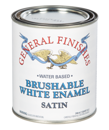 General Finishes Brushable White Enamel, Quart, Satin