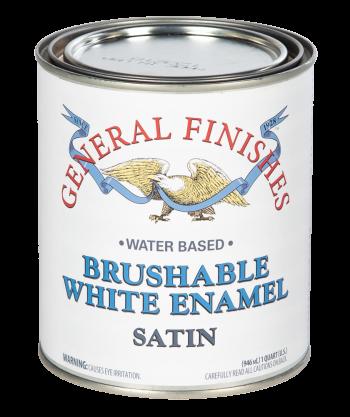 General Finishes Brushable White Enamel, Quart, Satin