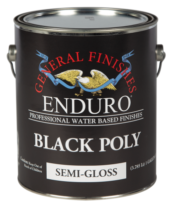 General Finishes Enduro Black Poly, Gallon