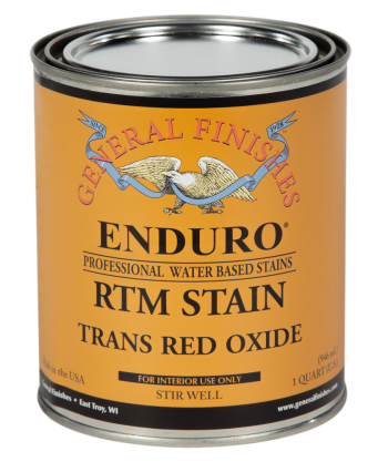 Enduro Ready-To-Match (RTM) Water Based Stain - Trans Red Oxide