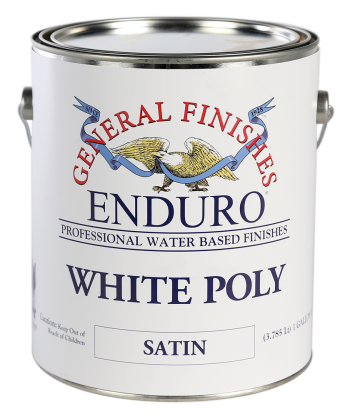 General Finishes Enduro White Poly, Gallon, Satin