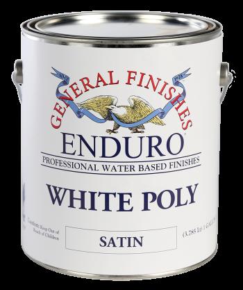 General Finishes Enduro White Poly, Gallon, Satin