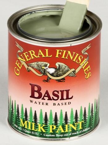 Get The Look Basil Green Milk Paint With Van Dyke Brown