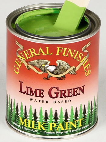 General Finishes Milk Paint, Quart, Lime Green (Discontinued)