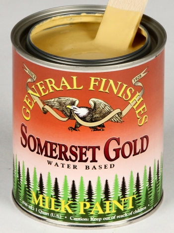 General Finishes Milk Paint, Quart, Somerset Gold (Discontinued)