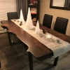 Douglas Fir Table, Live Edge, Java Stain,