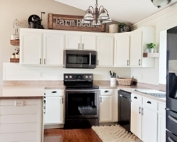 General Finishes Water Based Milk Paint Kitchen and Bath Cabinets