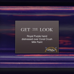 Nice Get The Look: Royal Purple Hand Distressed Over Coral Crush Milk Paint Great Ideas