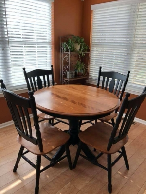 Kitchen Table And Chairs Painted Black Adorable Furniture Design Ideas Featuring Black General Finishes 9931 8