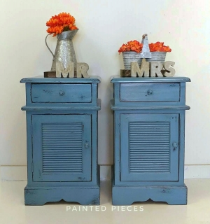 Armoires & Wardrobes Aspiring Original Vintage French Armoire Handpainted In Midnight Blue